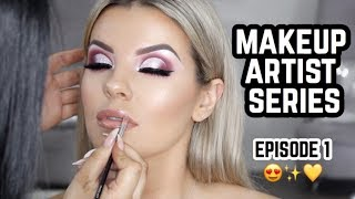 Makeup Artist Series Ep • 1 💄Burgundy Cut Crease Glam 😍Jasmine Hand