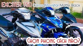 Yamaha Exciter 150 Camo Movistar Matte Black ▶ Dân Chơi đúng Chất
