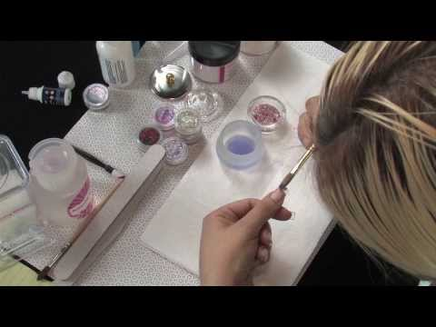Acrylic Nail Art tutorial using Amazing Deluxe Acrylic Kit by amazing shine nails inc.