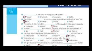 اجابات Work Book Practice test 3 B للثالث الثانوي
