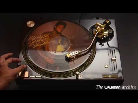Michael Jackson Thriller vinyl picture disc on a gorgeus Technics SL1200 LTD  Gold
