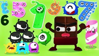 Learn Numbers for Toddlers - Candybots Numbers 123 | Learn Count | Kids Monsters Numbers | Kids Apps