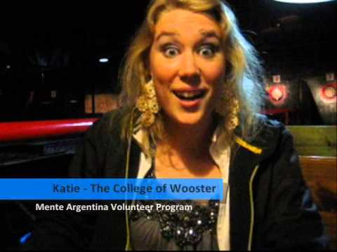Katie, student from The College of Wooster, USA participated in the Mente Argentina Volunteer Program!