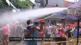 Thailand celebrates wet New Year - no comment