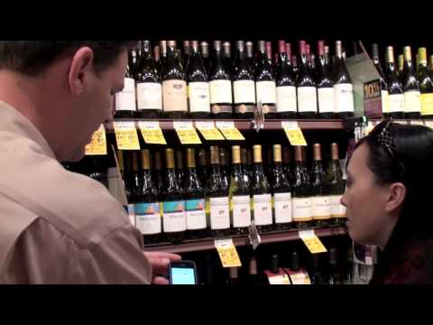 Watch an In-Store demonstration of the Thumbs Up WineFinder app.