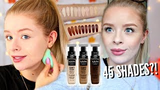 NYX CAN'T STOP WON'T STOP FOUNDATION!! WORTH THE HYPE?! 10 HOUR WEAR TEST   sophdoesnails