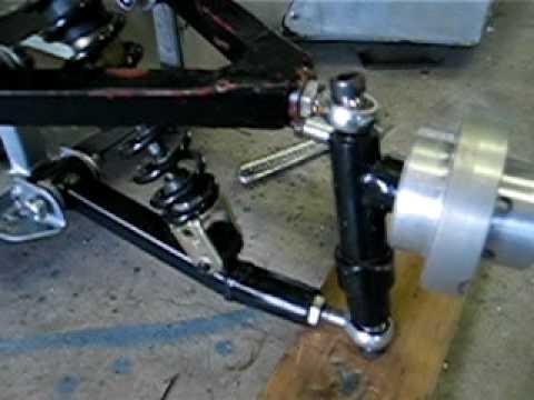 Go-kart front suspension design - YouTube