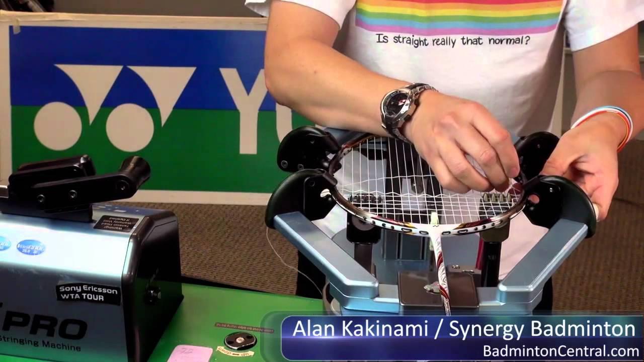 Alan Kakinami Strings A Badminton Racket In 14mins 45secs