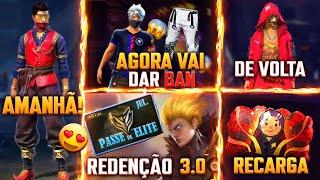 LCDP VAI VOLTAR, TEXTURA TA DANDO BAN, REDENÇÃO 3.0? EVENTO DE RECARGA, ANGELICAL, EVENTOS FREE FIRE