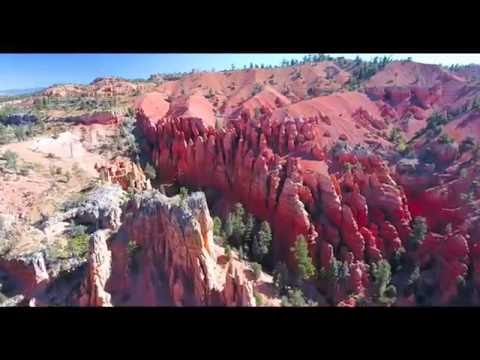 Bryce Canyon Area Red Canyon Drone