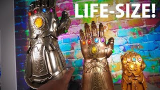 Thanos is HUGE! Hot Toys Infinity Gauntlet Life-Size Replica Unboxing + Review!