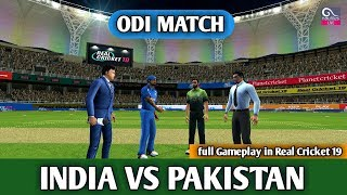 (INDIA VS PAKISTAN) ODI MATCH IN REAL CRICKET 19 LIVE
