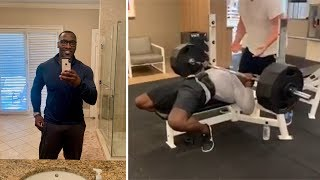 Shannon Sharpe Bench Press 415 At 51 Years Old Amazing Strength!