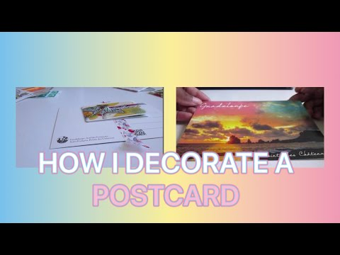 HOW I DECORATE A POSTCARD FOR A SWAP...! | Murielle Life