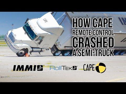 Remote Control Semi-Truck Crash - How CAPE did it!