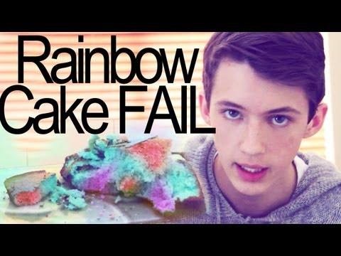 EPIC RAINBOW CAKE 3 LAYER FAIL