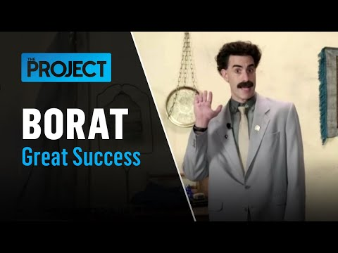 'My Wife Is Dead. Let's Have Fun': Borat Gets Very Rudy With Angela Bishop | The Project