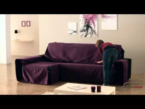 housse couvre canap d 39 angle universelle youtube. Black Bedroom Furniture Sets. Home Design Ideas