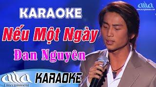 Karaoke Nếu Một Ngày | Đan Nguyên Beat Chuẩn - Karaoke Nhạc Vàng Trữ Tình Tone Nam Hay Nhất