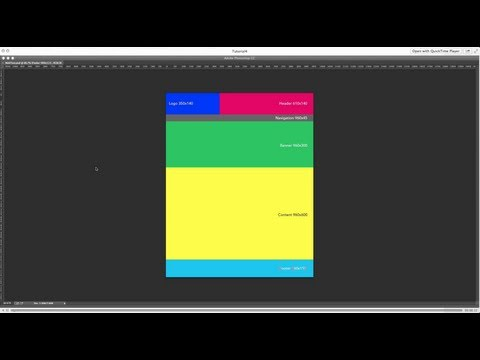 Basic website design with custom header and footer