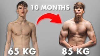 10 Month Body Transformation from Skinny to Less Skinny