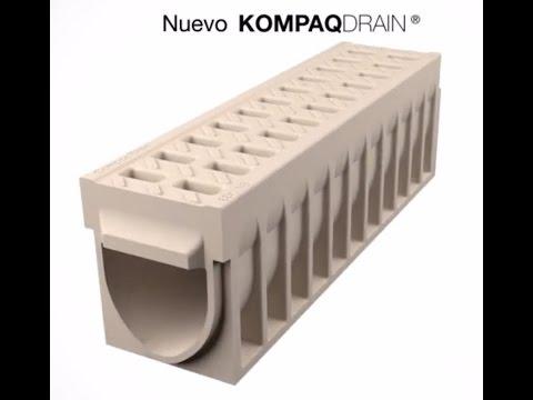 Canal de drenaje compacto KOMPAQDRAIN