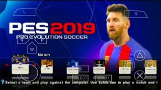 PES 2019 PPSSPP Android 700 MB ENGLISH V7 Update Full Transfers Best Graphics HD