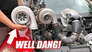 The Auction Corvette's NEW Turbo is MASSIVE... Will It Fit?? (guess the size!)