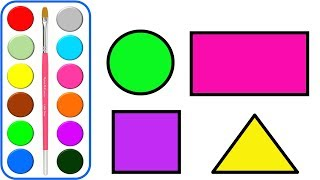 Shape drawing & coloring pagesl Learning Colors and Shapes Videos Collection for Children