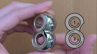 E7 - SOLUTION - Cast Infinity by Hanayama with graphic explanation