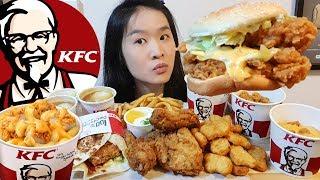 KFC ALL CHEESE FEAST!! MAC N' CHEESE, Zinger Stacker, Fried Chicken Tortilla | Eating Show Mukbang