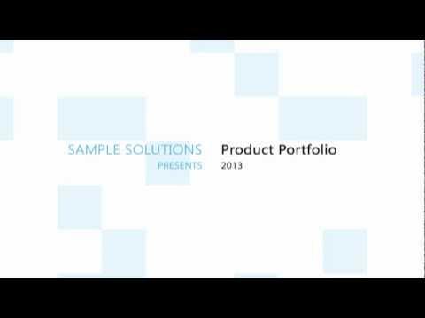 Sample Solutions Product Portfolio