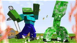 CREEPER KHỔNG LỒ ĐẤU VỚI ZOMBIE KHỔNG LỒ (Trận Chiến Kinh Khủng Nhất Minecraft!!)