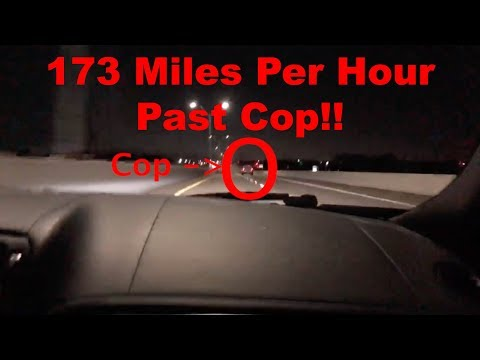 Passing a Cop at 170+MPH and RUNNING!! THEY GOT AWAY! (200MPH Attempt)