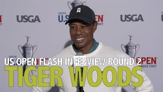 Tiger Woods Friday Flash Interview 2020 US Open - Round 2