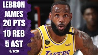 LeBron James tallies double-double vs. Raptors in the Orlando bubble | 2019-20 NBA Highlights