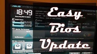 Easiest Way To Update Bios On An Asus MotherBoard!