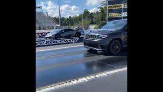 Dodge Demon Powered Trackhawk vs. Lamborghini Huracan DragRace!