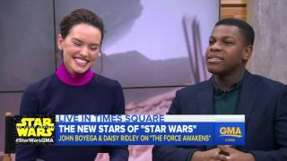 "'Star Wars: The Force Awakens"" Interview with Daisy Ridley, John Boyega"