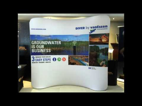 8ft Curved Tension Fabric Display