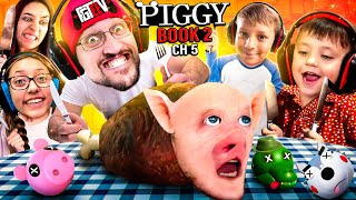 PIGGY for LUNCH! FGTeeV Fam SEWERS Escape! (ROBLOX Book 2 Ch 5 Gameplay/Skit)