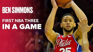 Ben Simmons Makes 3-Pointer, Joel Embiid and 76ers Go Wild | Philadelphia 76ers NBA Preseason