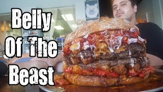 Belly Of The Beast Burger Challenge!!!