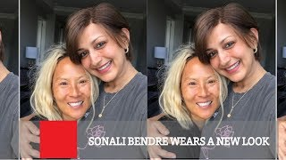 Sonali Bendre Wears A New Look; Finds Angel Like Friend..