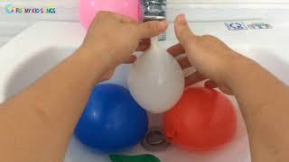 Learn Colors with Wet Balloons-Water Balloons Colors For Children