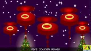 Nursery Rhymes | 12 Days Of Christmas | Animated Christmas Songs & Lyrics By ZippyToons TV