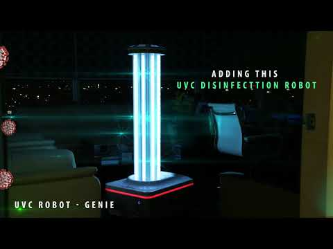 Disinfection robots for hospitals