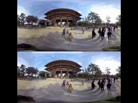 [3D360 video] Walking through the Great South Gate of Todaiji in Nara Japan