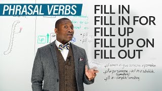 11 PHRASAL VERBS with FILL: fill in, fill out, fill up...