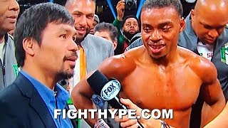ERROL SPENCE CALLS OUT PACQUIAO IN RING AFTER DOMINATING MIKEY GARCIA; PACQUIAO ACCEPTS CHALLENGE